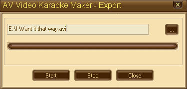 Figure 8: AV Video Karaoke Maker - Export dialog box