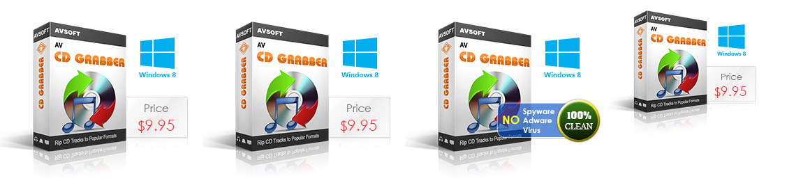 AV CD Grabber - Convert tracks on a music CD to WMA, WAV, MP3, AAC, MP4, MPC, OGG, RAW, SPX, TTA, WV, APE and FLAC