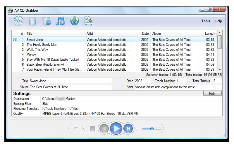 AV CD Grabber screenshot