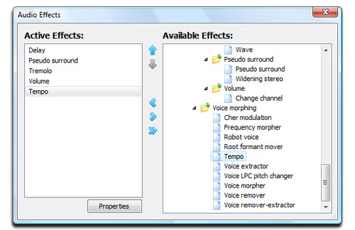 Media Player Morpher - Audio Effects