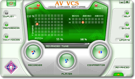 AV Voice Changer Software - Voice,sound,VoIP,phone,realtime - Change voice over Internet and PC Phone in real time;