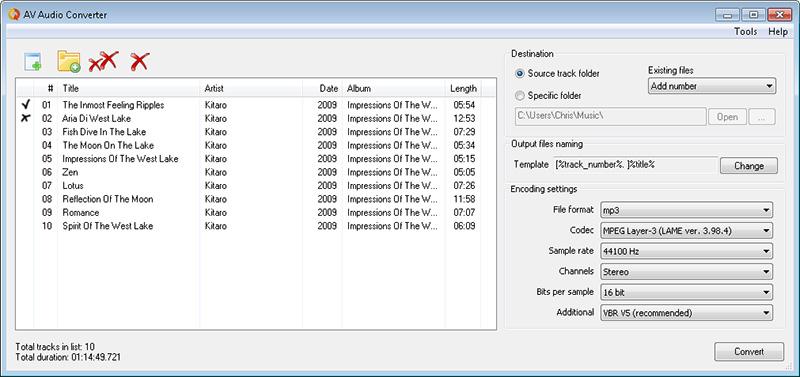 AV Audio Converter screenshot