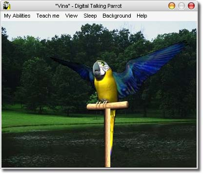 AV Digital Talking Parrot full screenshot
