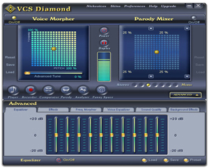 Screenshot of AV Voice Changer Software Diamond