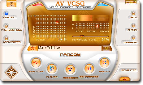 Click to view AV Voice Changer Software Gold 7.0.61 screenshot