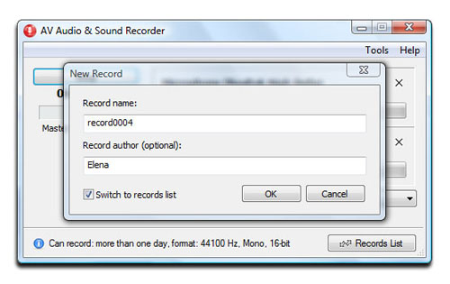 AV Audio & Sound Recorder - Save recorded tracks