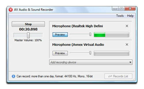 AV Audio & Sound Recorder - Recorder skin mode