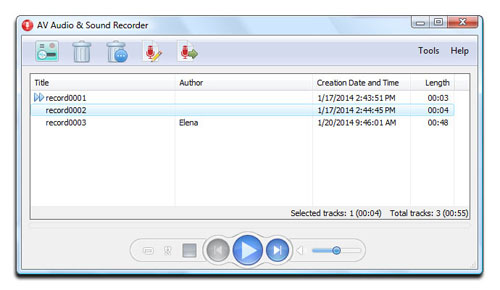 AV Audio & Sound Recorder - Recordings manager skin mode