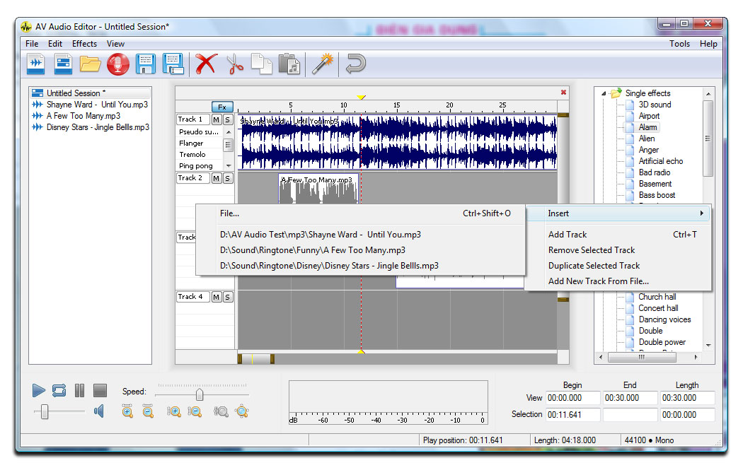 audio file editing software