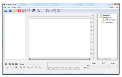 AV Audio Editor - free audio editor to copy, cut, split