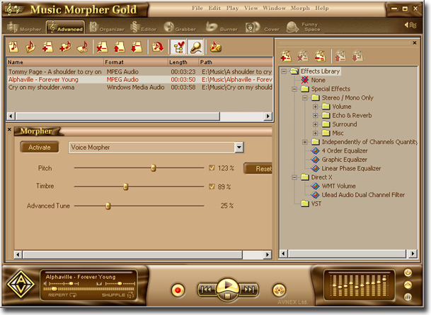 TÉLÉCHARGER AV MUSIC MORPHER GOLD 4.0.68