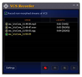 Advanced panel: Non-human Voice Effects of Voice Changer Software 7.0