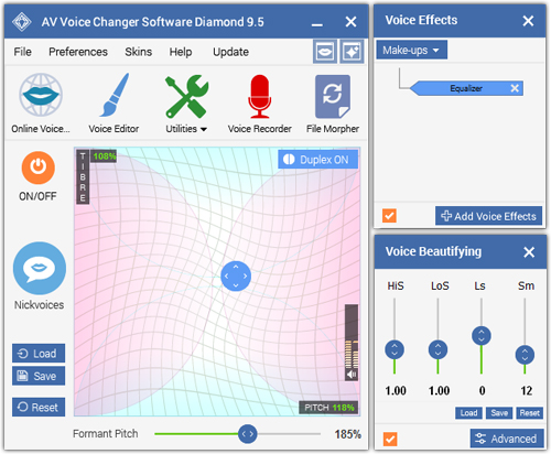 Screenshot of AV Voice Changer Software Diamond 9.5.02