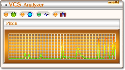 screenshot of Voice Changer Software  Gold's Voice Analyzer Panel