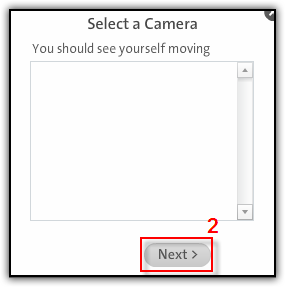 Fig. 4 - Select a Camera dialog box